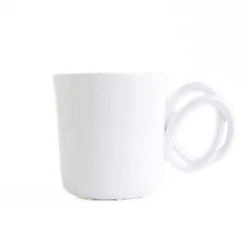 Twisted handle mug White
