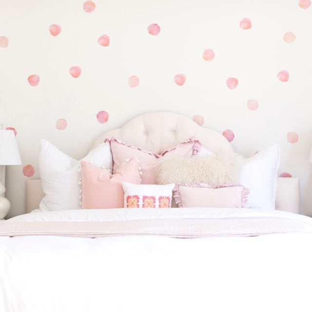 Pink Watercolor Wall Decal