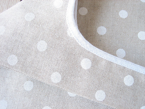 White Polka Dot Shopping Bag