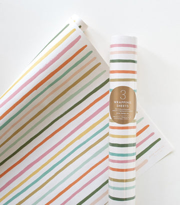 Happy stripe gift wrap