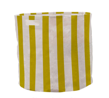 Citron Striped Hamper