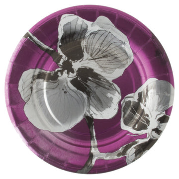Black Orchid Fine Paper Luncheon Plates