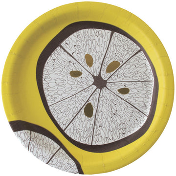 Lemonwood Fine Paper Luncheon Plates
