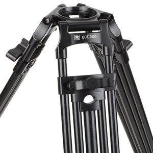 SIRUI BCT-2003 Broadcast - Video Tripod Aluminium Black - 75mm Halfbowl - BCT-Serie