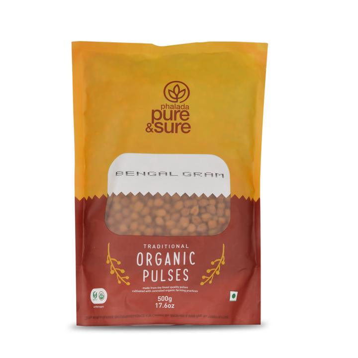Pure & Sure Organic - Brown Channa(bengal gram), 500gm
