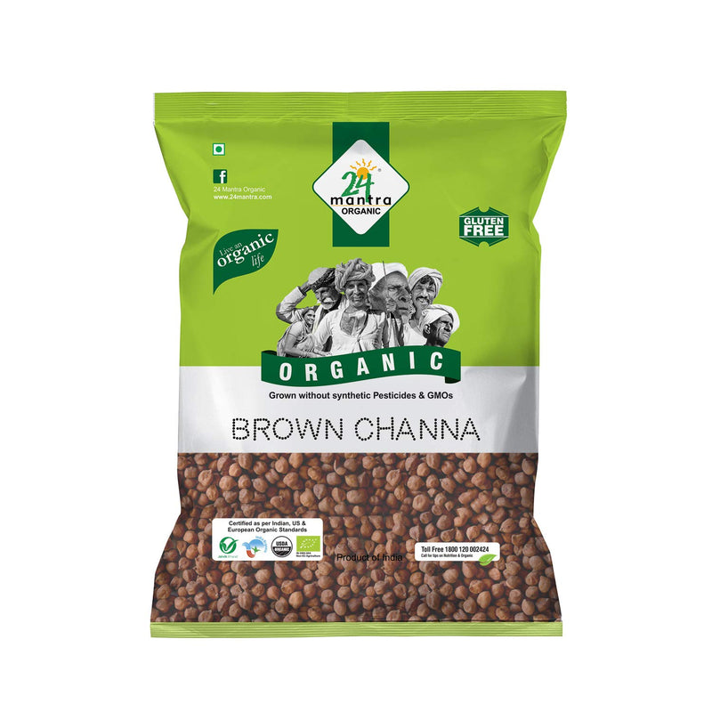 24 Mantra Organic Brown Channa(bengal gram) - 500gm