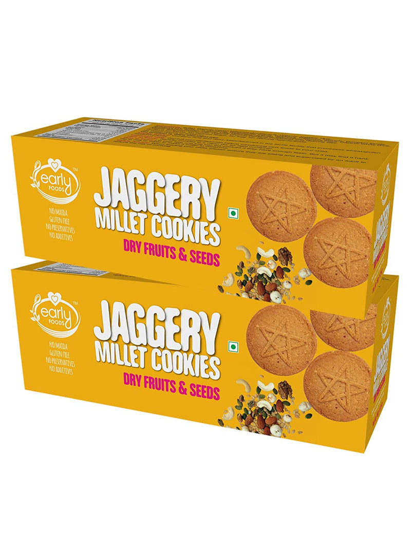 Early Foods Dry fruits and Seeds Jaggery Cookies 150g