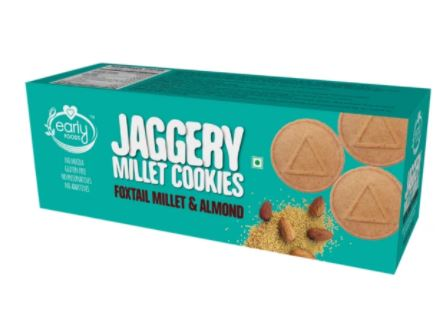 Early Foods Foxtail Millet & Almond Jaggery Cookies 150g