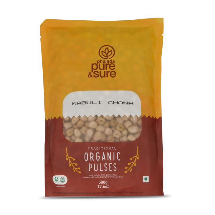Pure & Sure Organic Kabuli Chana (White Chick Peas), 500gms
