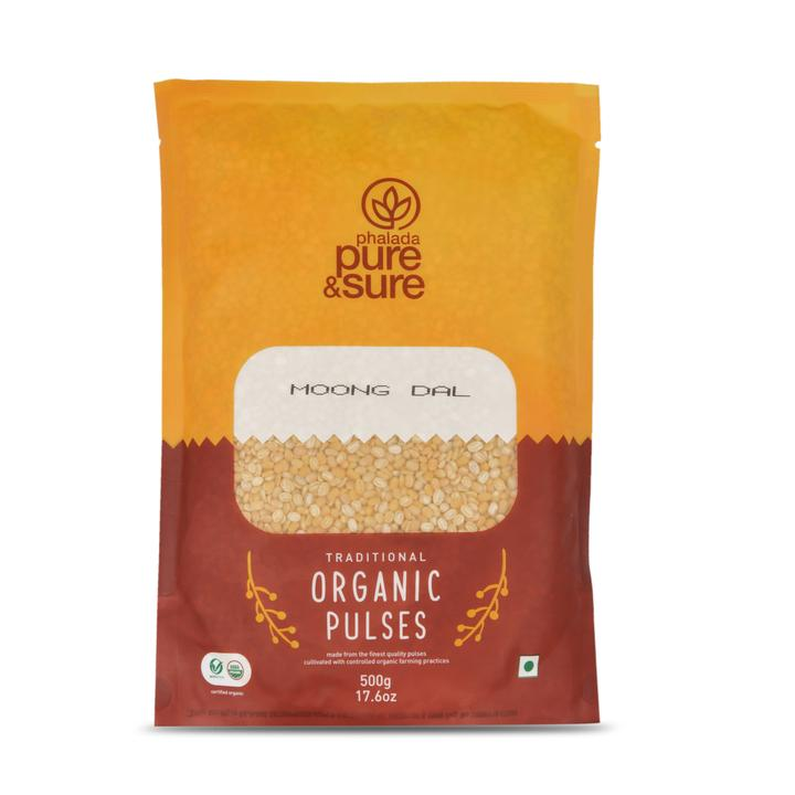 Pure & Sure Organic Moong Dal, 500gms