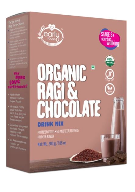 Early Foods Organic Ragi Chocolate Drink 200g