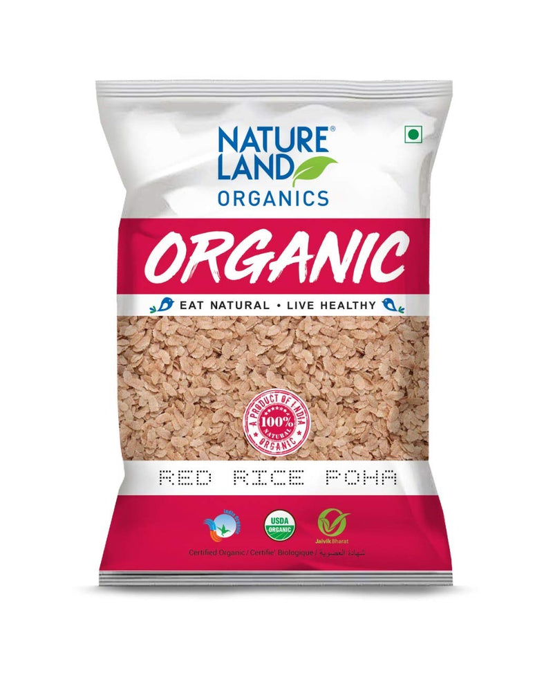 Natureland Organics Red Rice Poha - 500gms