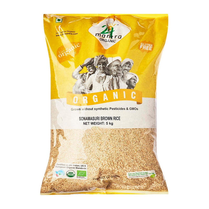 24 Mantra Organic Rice - Sonamasuri Brown, 1kg