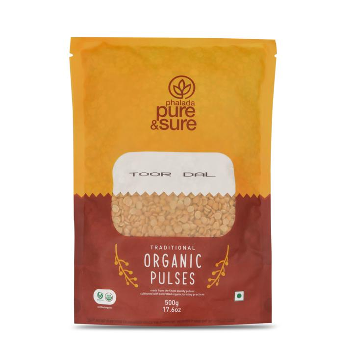 Pure & Sure Organic Toor Dal, 500gms