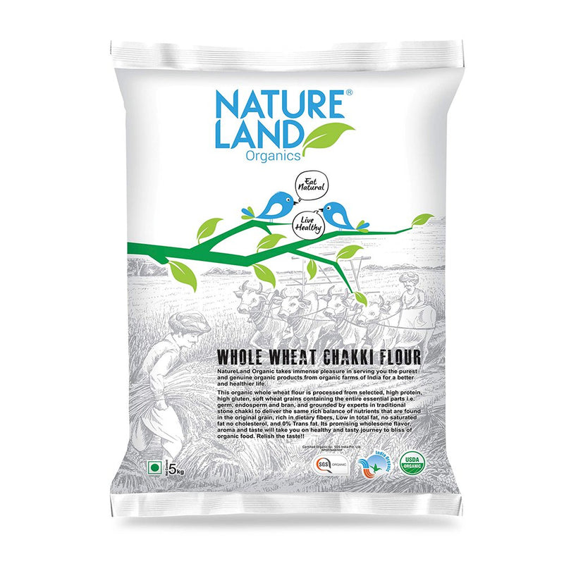 Natureland Organics Wheat Flour, 750gms