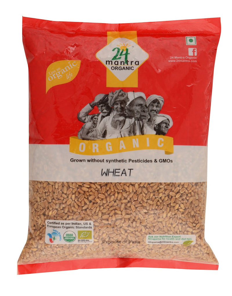 24 Mantra Organic Wheat Whole - 1Kg