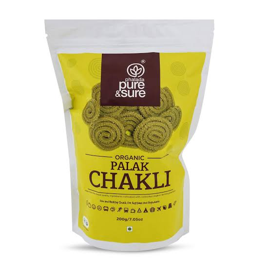 Pure & Sure Organic Palak Chakli 200gm