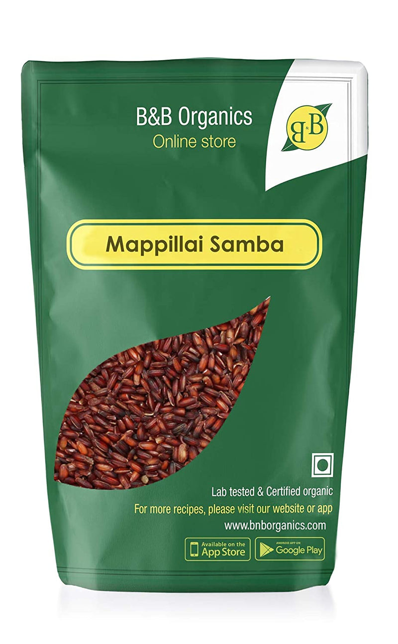 B&B Organics Hand Pounded Mappillai Samba Red Rice 500gms