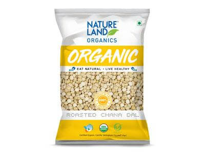 Natureland Organics Roasted Chana Dal -500gms