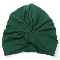Mid Tone Green Baby Toddler Turban Hat