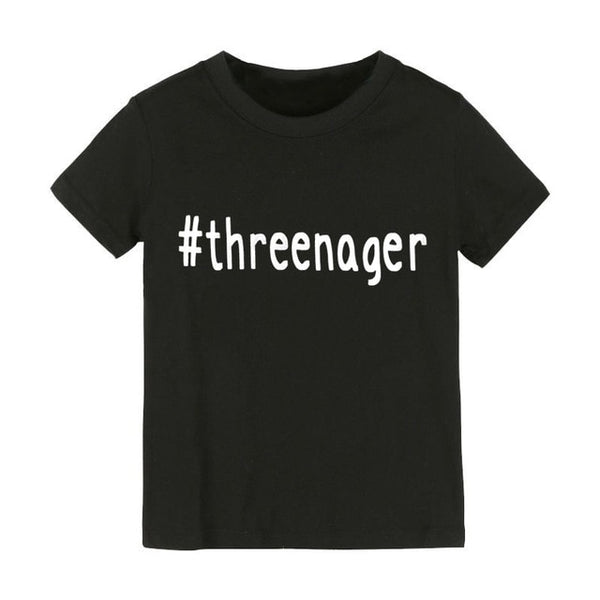 #threenager Message Tee for the 3 Year Old Girl or Boy in Your Life