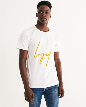 Legit - Hoggy D Ft. Berner & Rich The Factor (video logo) Men's Graphic Tee - Hoggy D. Entertainment