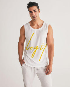 Legit - Hoggy D Ft. Berner & Rich The Factor (video logo) Men's Sports Tank - Hoggy D. Entertainment