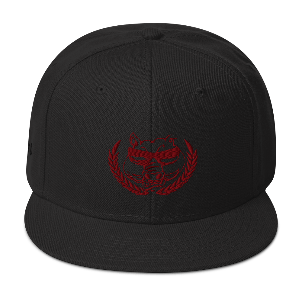 Hoogy D Ent - Snapback Hat (Red Emblem) - Hoggy D. Entertainment