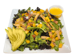 Avocado-Mango Salad (Vegetarian) - The Rolling Dish