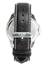 Equipe Turbo Genuine Leather-Band Watch - Black