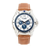 Equipe Turbo Genuine Leather-Band Watch - Camel/White