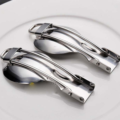 Stainless steel folding tableware