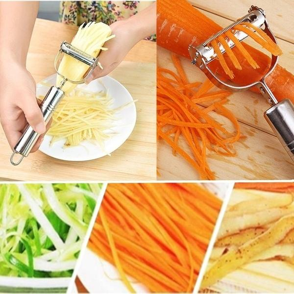 2 in1 Stainless Steel Vegetable Cutter - My Kitchen Cove