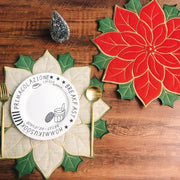 2020 Christmas red Holly table mat - My Kitchen Cove
