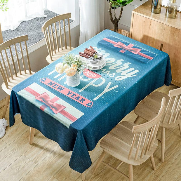 2020 Christmas tablecloth - My Kitchen Cove