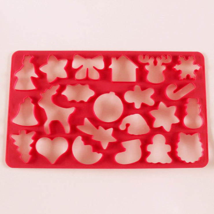 22-hole Plastic Christmas Biscuit Mold - My Kitchen Cove
