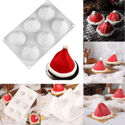 6-Christmas Hat Mousse Silicone Cake Mold - My Kitchen Cove
