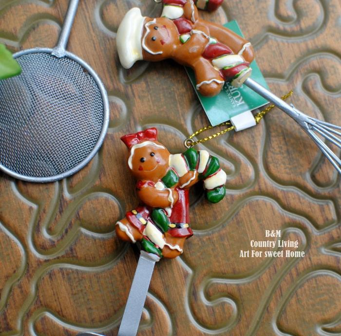 American retro fun gingerbread man pendant - My Kitchen Cove