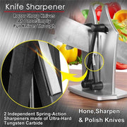 Bavarian Edge Knife Sharpener - 2020 Upgraded Tungsten Carbide - My Kitchen Cove