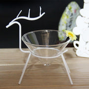 Christmas deer Italian cuisine tableware creative hotel clubhouse transparent glass molecular cuisine foodie - My Kitchen Cove