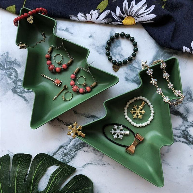 Christmas Tree Candy Plate Jewelry Plate (Set of 4 Pcs) - My Kitchen Cove