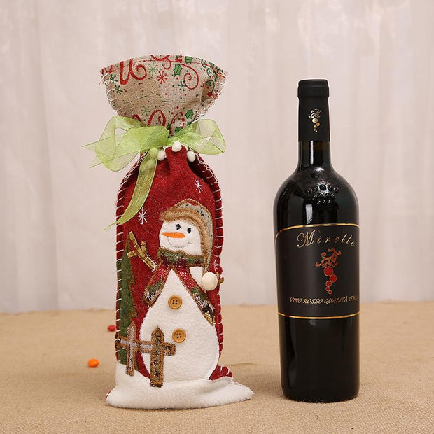 Christmas Wine Bottle Cover - My Kitchen Cove