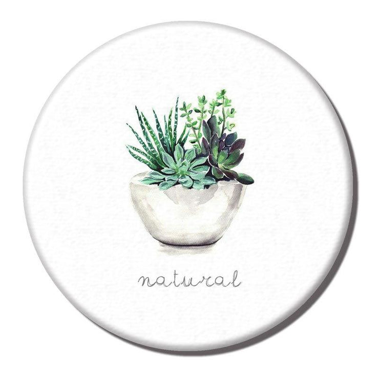 Diatomite Water Absorbent Coaster Plant Pattern - My Kitchen Cove