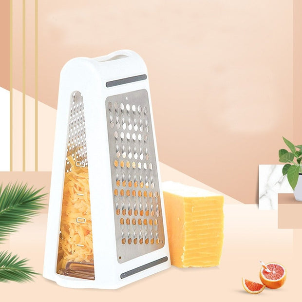 Double-sided Vege grater with container - My Kitchen Cove