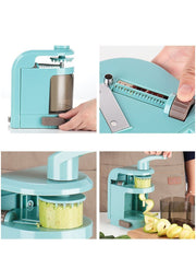 Hand-Operated 4-in-1 Vegetable Cutter cum Spiral Grater - My Kitchen Cove