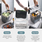 Japanese Style 3-In-1 Multifunctional Storage Box - My Kitchen Cove