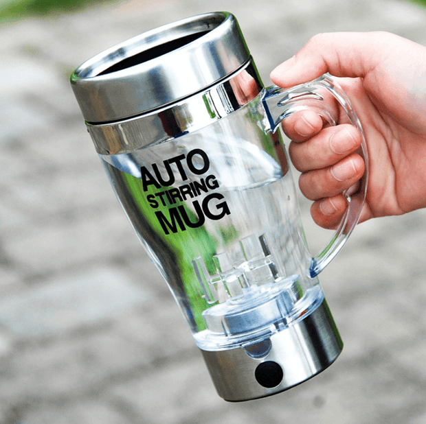 Lazy Electric Stainless Steel Self Mixing Cup Magnetic Stirring Coffee Mug - My Kitchen Cove