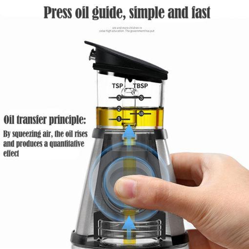 Measurable Glass Bottle Oil Infuser - My Kitchen Cove