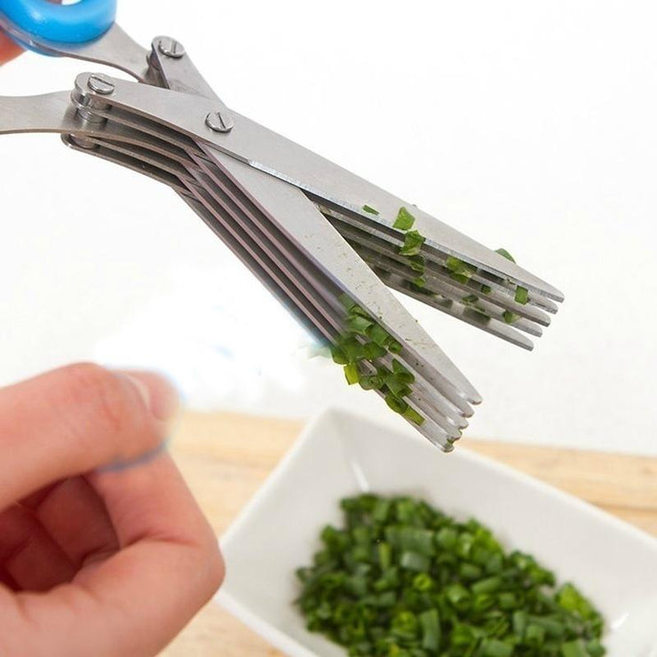 Multifunctional 5 Blades Scissors - My Kitchen Cove