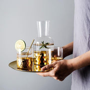 Nordic Luxury Wind Electroplated Golden Cup with Pot Set Coffee Cup Juice Cup Breakfast Cup Gourmet Apparatus - My Kitchen Cove